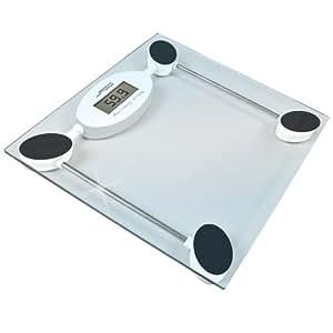 Pèse-personne numérique 28 x 28 cm - avec affichage LCD - précision 100 g - jusqu'à 180 Kg