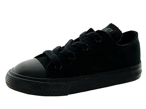Converse Toddlers Chuck Taylor OX Classic Black Monoch Basketball Shoe 8 Infants US