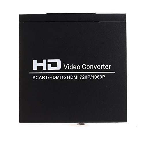 h way optimale scart hdmi zu hdmi konverter hd 720p 1080p video converter farbe schwarz. Black Bedroom Furniture Sets. Home Design Ideas