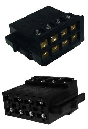 Autoradio-ISO-Stecker-Adapter-fr-Lautsprecher-schraubbare-Version-0032W9
