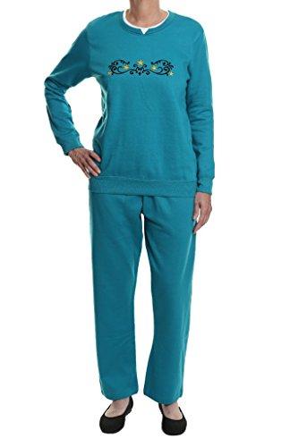 Pembrook Women's Embroidered Fleece Sweatsuit Set- XL ...