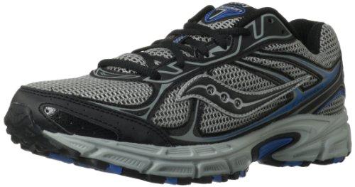 Saucony Men'S Cohesion Tr7 Trail Running Shoe,Grey/Black/Blue,9.5 M Us