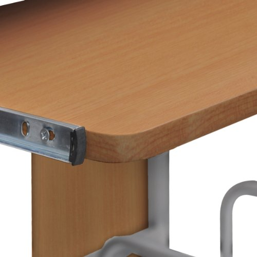 Tavolo scrivania per computer mobile cassetto estraibile finitura marrone