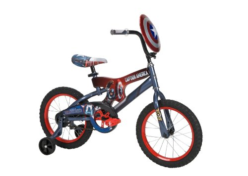 Huffy 16-Inch Captain America Bike (Red/Blue)