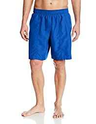Speedo Men\'s Core Basic Rally Solid Volley Swim Trunks, Classic Blue, Large