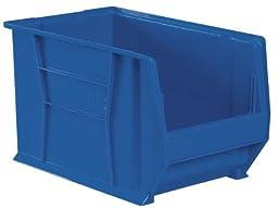 Akro-Mils 30283 20-Inch D by 18-Inch W by 12-Inch H Super Size Plastic Stacking Storage Akro Bin, Blue