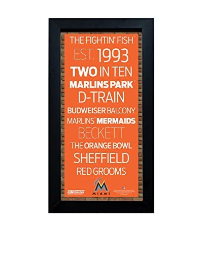 Steiner Sports Memorabilia Framed Miami Marlins Subway Sign