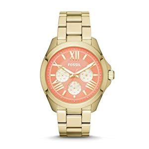 Fossil Women's AM4548 Cecile Analog Display Analog Quartz Gold Watch