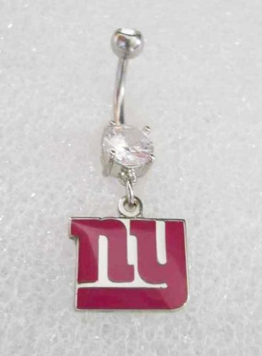 PINK NFL NY NEW YORK GIANTS FOOTBALL BREAST CANCER AWARENESS Navel Belly Button Ring at Amazon.com