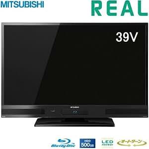 三菱電機 39V型 フルハイビジョン 液晶テレビ HDD 500GB ブルーレイレコーダー搭載 REAL LCD-A39BHR6
