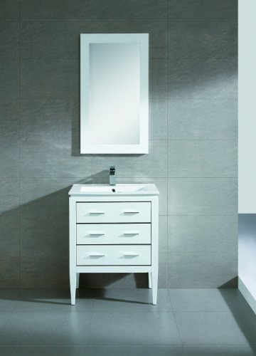 "Fine Fixtures Exclusive Ironwood 24"" White Vanity Set"