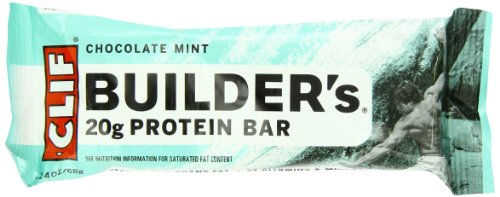 Clif 540077 2.4-Ounce Builder's Bar, Chocolate Mint (12-Count)