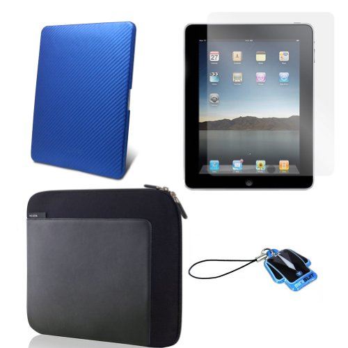 (6 Color options) Apple iPad skin silicone case for iPad 3G cover neoprene sleeve case accessory bundle + screen protector + MiniSuit LCD Cleaner