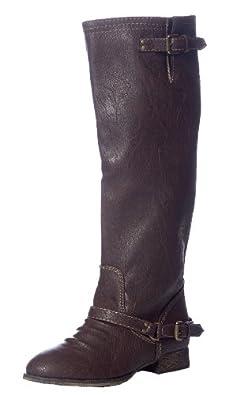 Breckelles Outlaw-81 Women's Brown Zipper Tall Riding Boots Light Brown 5.5