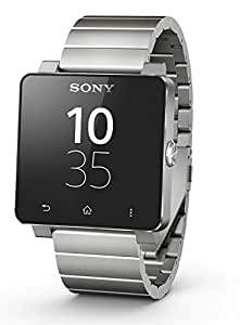 Sony SmartWatch 2 SW2 Handy-Uhr für Smartphones ab Android 4.0, Bluetooth/NFC, Metall-Armband - Silber