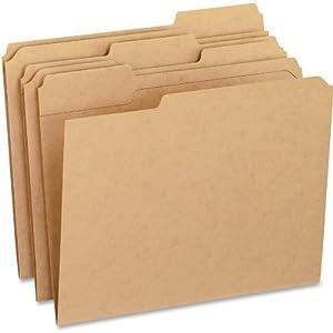 Pendaflex 1/3-Cut Kraft File Folders, 100 per Box (PFXRK152 1/3)