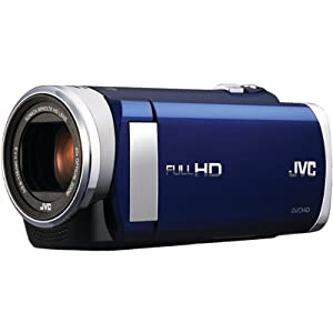 JVC 1.5-Megapixel 1080P High-Definition Everio Digital Video Camera (Blue) GZE200AUS
