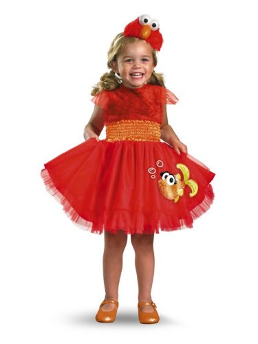 Sesame Street Infant Girls Elmo Costume Frilly Dress & Hat
