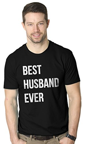 Mens Best Husband Ever Funny Wedding Marriage T shirt (Black) -3XL