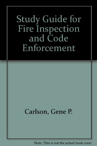 Study Guide for Fire Inspection and Code Enforcement