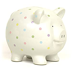Child to Cherish Large Confetti Pig Bank, Multi