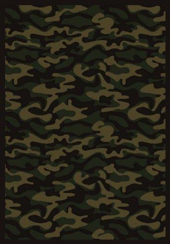 """Funky Camo© Dark Army Rug Size: 10'9"""" x 13'2"""""""