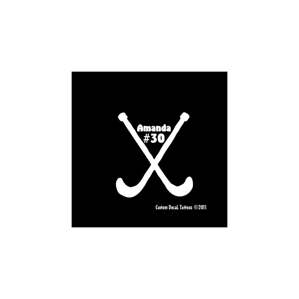 Field Hockey Custom Car Window Decal Sticker White 5