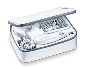 Beurer MPE60 - Set manicura y pedicura profesional, 9 zafiros, apto para diabéticos, color blanco por Beurer