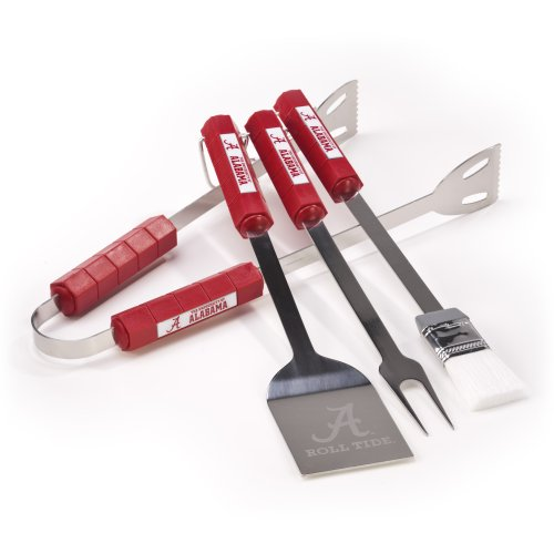NCAA Alabama Crimson Tide 4 Piece Barbecue Set (Alabama Grill Accessories compare prices)
