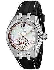 Elini WH2747BK Women's Genesis Dual Time Black Silicone Watch