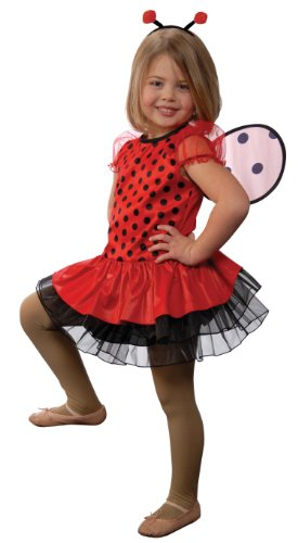 Aeromax Lady Bug with Antennae Headband and Detachable Wings, Size 4/6