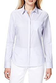 Autograph Supima Pure Cotton Ticking Striped Shirt [T50-4053-S]