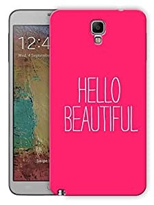 """Humor Gang Hello Beautiful Printed Designer Mobile Back Cover For """"Samsung Galaxy Note 3 Neo"""" (3D, Matte, Premium Quality Snap On Case)"""