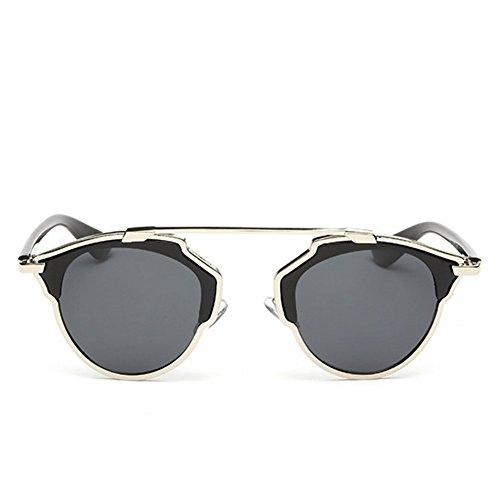 Y-H Unisex Eyewear Polarized Round Wayfarer UV Protection Trend Sunglasses(C3