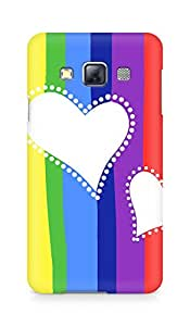 Amez designer printed 3d premium high quality back case cover for Samsung Galaxy A3 (Colorful Hearts)