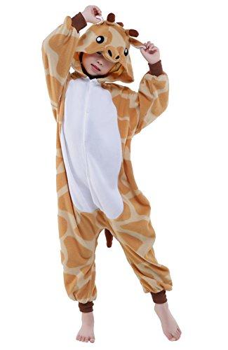 NEWCOSPLAY Children Onesie Cosplay Costume Pajamas (M, Giraffe)