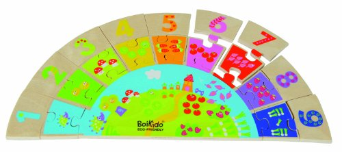 Boikido Eco-Friendly Wooden Rainbow Numbers Game