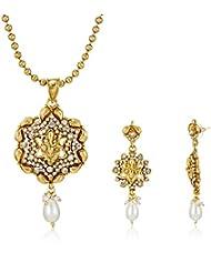 Ava Jewellery Set For Women (Gold) (S-VS-2190)