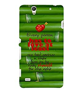 EPICCASE love atleast Mobile Back Case Cover For Sony Xperia C4 (Designer Case)