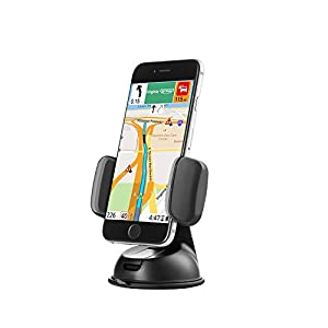 Zilu Car Phone Mount, Cell Phone Holder for Dashboard and Windshield, Car Accessories for iPhone Samsung Galaxy and More-Retail Packaging