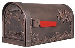 Special Lite Products SCB-1005-CP Hummingbird Curbside Mailbox, Copper