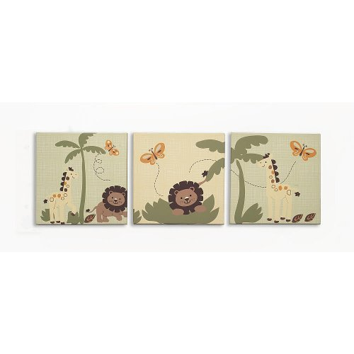 Babies R Us By Design Safari 3-Piece Wall Art