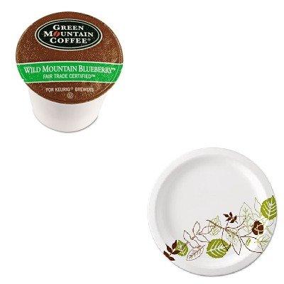 Kitdxeux9Wspkgmt6783 - Value Kit - Green Mountain Coffee Roasters Fair Trade Wild Mountain Blueberry Coffee K-Cups (Gmt6783) And Dixie Pathways Mediumweight Paper Plates (Dxeux9Wspk)