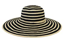 Ladies Ribbon Hat / Raffia Tie / Black / Oh So Cute!