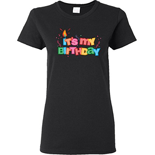 Inktastic It'S My Birthday Letters Women'S T-Shirt Xl Black front-663623