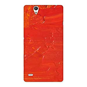 Delighted Orange Paint Texture Back Case Cover for Sony Xperia C4