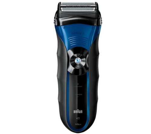 Electric razors Series 3 340S-4 Wet & Dry Electric Razor- grey/blue (BRAUN Electric razors and clippers)