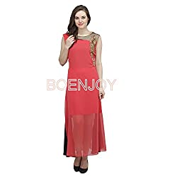 Woman Stitched Georgette Kurta with sequin embroidery (Gajari-40)