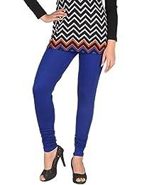 Splendora Skinny Fit Viscose 4 Way Stretchable Full Length Leggings Royal Blue V Cut Free Size