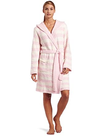 Casual Moments Women's Marshmallow Hooded Wrap, Cream/Pink, Medium
